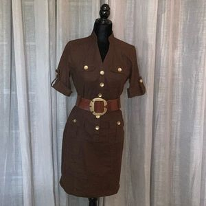 New York and Company Brown Dress
